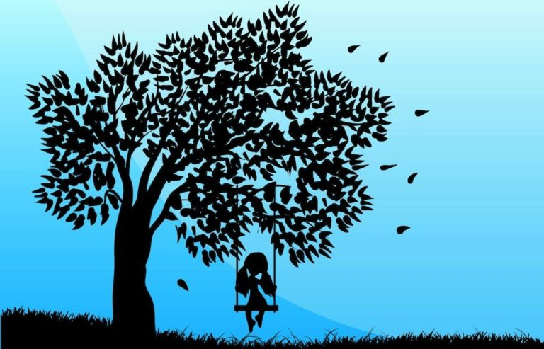 Mindfulplay girl on swing
